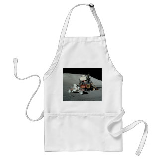 Apollo 17 - The Final Manned Moon Landing Adult Apron