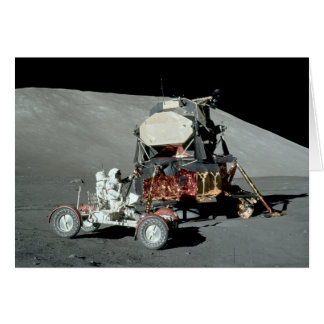 Apollo 17 - The Final Manned Moon Landing Card