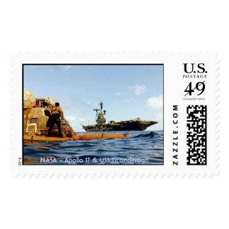 Apollo 17 & USS Ticonderoga Postage