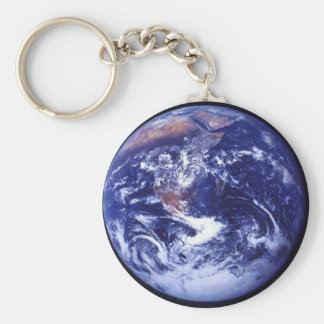 Apollo 17 view of Earth in space Basic Round Button Keychain