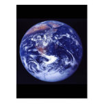 Apollo 17 view of Earth in space Postcard