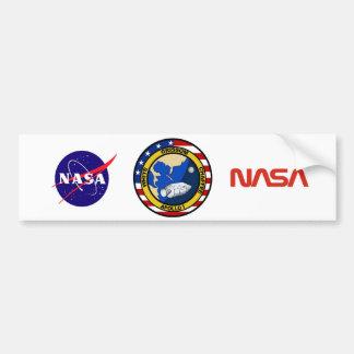 Apollo 1: Grissom, White and chaffee. Bumper Sticker