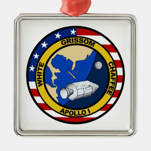 Apollo 1: Grissom, White and chaffee. Christmas Ornaments