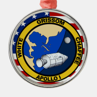 Apollo 1 Grissom White and chaffee Christmas Tree Ornaments