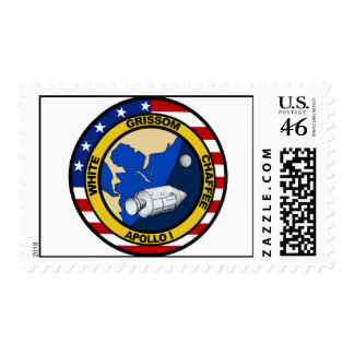 Apollo 1 Grissom White and chaffee Stamps