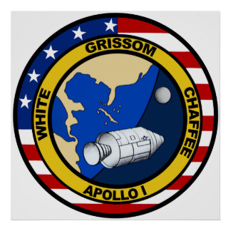Apollo 1: Grissom, White and chaffee. Print