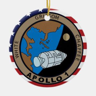 Apollo 1 Mission Patch Logo Ceramic Ornament