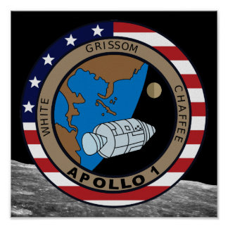 Apollo 1 Mission Patch Logo Poster