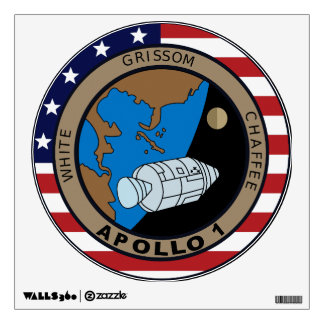 Apollo 1 Mission Patch Room Decal