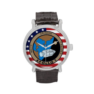 Apollo 1 Mission Patch Wrist Watches