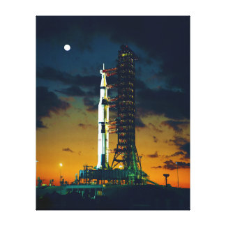 Apollo 4 Saturn V on Pad A Launch Complex 39 Canvas Print