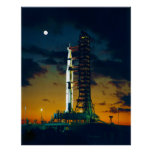 Apollo 4 Saturn V on Pad A Launch Complex 39 Poster