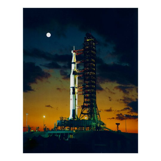 Apollo 4 Saturn V on Pad A Launch Complex 39 Poster