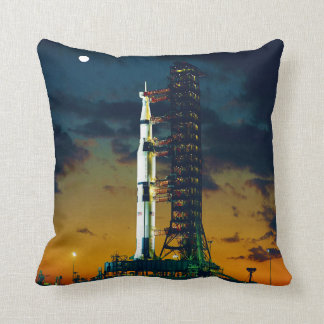 Apollo 4 Saturn V on Pad A Launch Complex 39 Throw Pillow