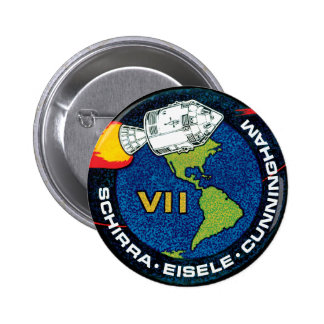Apollo 7 Mission Patch Buttons