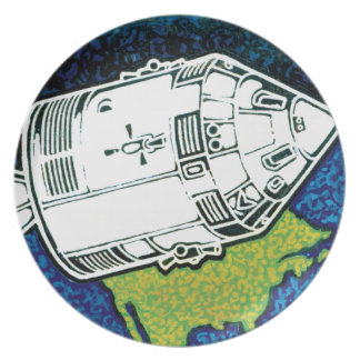 Apollo 7 Mission Patch Melamine Plate