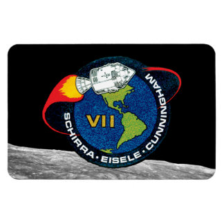 Apollo 7 Mission Patch Rectangle Magnets