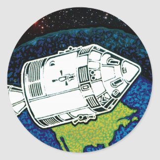 Apollo 7 NASA Mission Patch Logo Classic Round Sticker