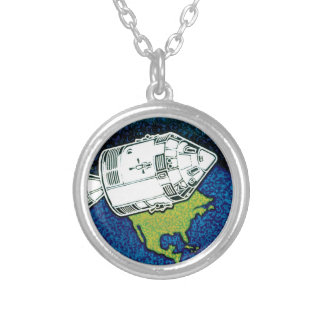 Apollo 7 NASA Mission Patch Logo Silver Plated Necklace