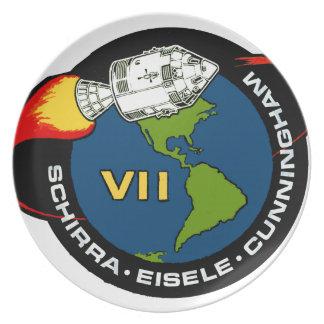 Apollo 7: Schirra, Eisele & Cunningham Dinner Plate