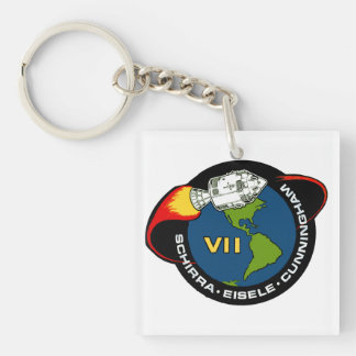 Apollo 7: Schirra, Eisele & Cunningham Acrylic Keychain