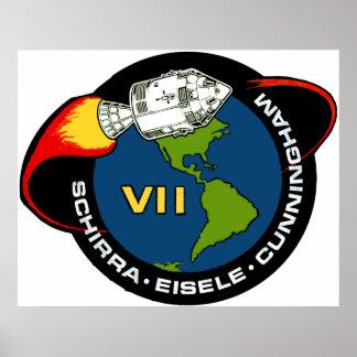 Apollo 7: Schirra, Eisele & Cunningham Poster