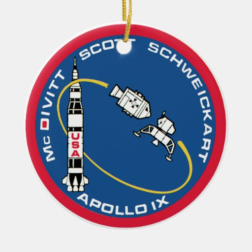 Apollo 9: McDivitt, Scott & Schweickart Ceramic Ornament