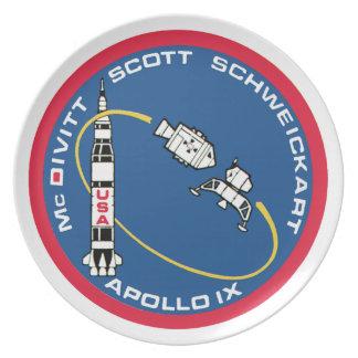 Apollo 9: McDivitt, Scott & Schweickart Plate