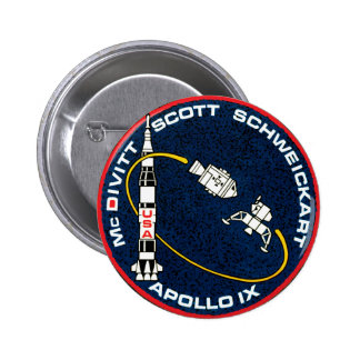 Apollo 9 Mission Patch Pin