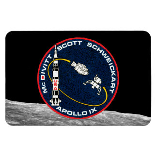 Apollo 9 Mission Patch Rectangle Magnets