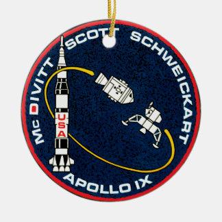 Apollo 9 NASA Mission Patch Logo Ceramic Ornament