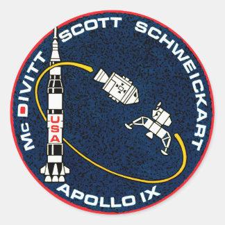 Apollo 9 NASA Mission Patch Logo Classic Round Sticker