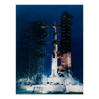 Apollo 9 on the Launch Pad Poster