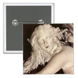 Apollo and Daphne, detail of Daphne's head 2 Inch Square Button
