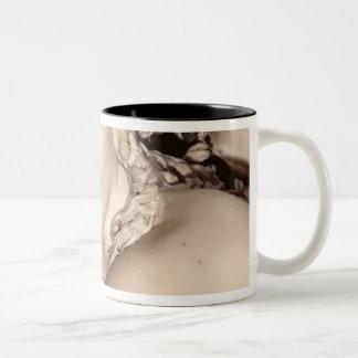 Apollo and Daphne, detail of Daphne's head Two-Tone Coffee Mug