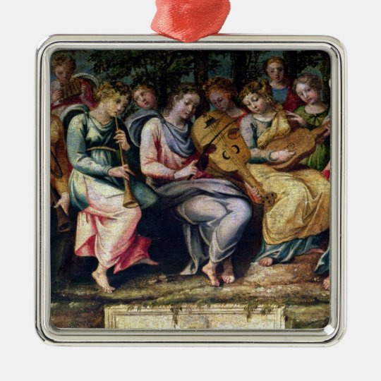 Apollo and the Muses, 1600 Metal Ornament