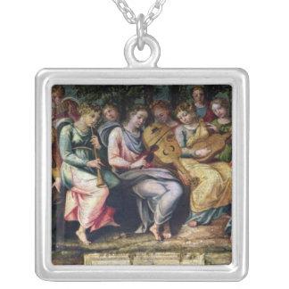 Apollo and the Muses, 1600 Square Pendant Necklace