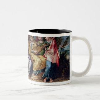 Apollo and the Muses, 1600 Two-Tone Coffee Mug