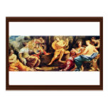 Apollo And The Muses,  By Vouet Simon Postcard