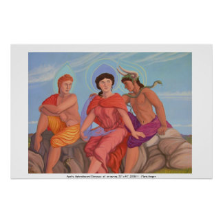 Apollo, Aphrodite and Dionysus Poster