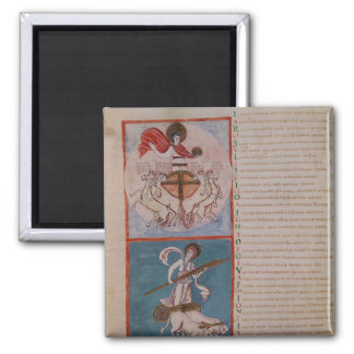 Apollo as the Sun and Diana as the Moon 2 Inch Square Magnet