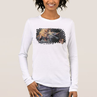 Apollo caressing the nymph Leucothea (oil on canva Long Sleeve T-Shirt