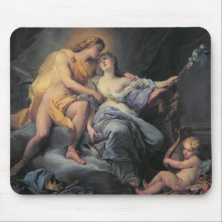Apollo caressing the nymph Leucothea (oil on canva Mouse Pad