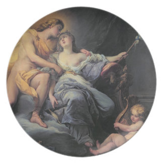 Apollo caressing the nymph Leucothea (oil on canva Plate
