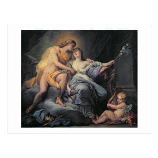 Apollo caressing the nymph Leucothea (oil on canva Postcard
