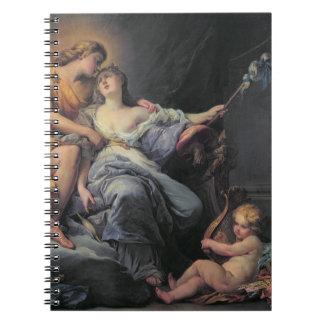 Apollo caressing the nymph Leucothea (oil on canva Spiral Notebook