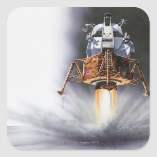 Apollo Eagle Lunar Module Square Sticker