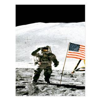 Apollo fiveteen Lunar Module Pilot moon explore Postcard