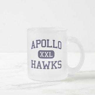 Apollo - Hawks - High School - Glendale Arizona 10 Oz Frosted Glass Coffee Mug