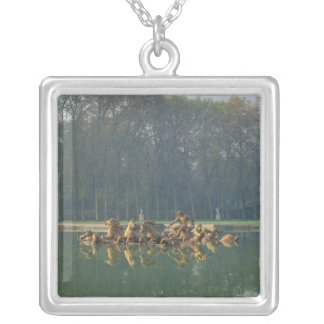 Apollo in his Chariot, from the Bassin Silver Plated Necklace